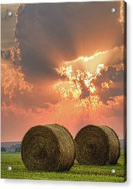 Morning In The Heartland Acrylic Print by Ron  McGinnis