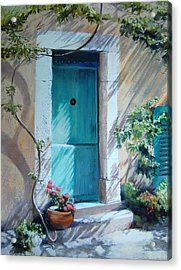 Morning Light In Valbonne Acrylic Print by Jeanne Rosier Smith