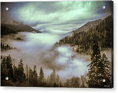 Acrylic Print featuring the photograph Morning Mountains II by Rebecca Hiatt