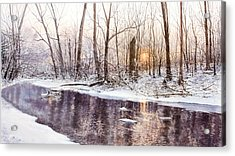 Morning On Monocacy Acrylic Print by Steven J White PWS