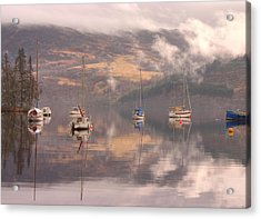 Morning Reflections Of Loch Ness Acrylic Print