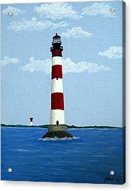 Morris Island Light Acrylic Print by Frederic Kohli