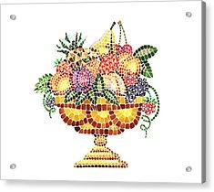Mosaic Fruit Vase Acrylic Print by Irina Sztukowski