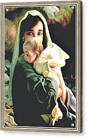 Mother And Child Acrylic Print by Ron Chambers