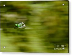 Motorcycle Racing Acrylic Print by Peter Hatter