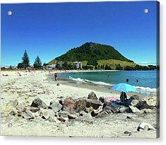 Mount Maunganui Beach 1 - Tauranga New Zealand Acrylic Print