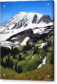 Mount Rainier Acrylic Print by Frederic Kohli