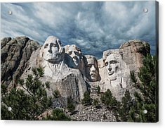 Acrylic Print featuring the photograph Mount Rushmore II by Tom Mc Nemar