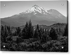 Acrylic Print featuring the photograph Mount Shasta And Shastina by Frank Wilson