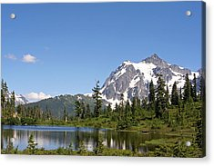 Acrylic Print featuring the photograph Mount Shuksan And Picture Lake by Lynn Bawden