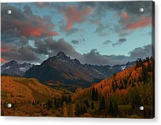 Acrylic Print featuring the photograph Mount Sneffels Sunset During Autumn In Colorado by Jetson Nguyen
