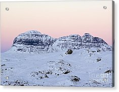 Mount Suilven In Winter Acrylic Print by Duncan Shaw