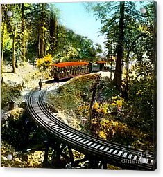 Mount Tamalpais Railway In The 1890s California Acrylic Print