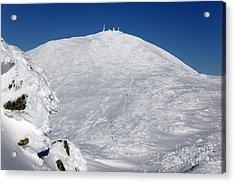 Mount Washington - White Mountain New Hampshire Usa Winter Acrylic Print by Erin Paul Donovan