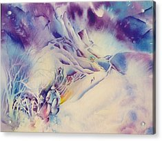 Mountain-freedom Acrylic Print by Nancy Newman