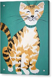 Acrylic Print featuring the painting Mr. Tabby by Leslie Manley