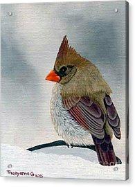 Mrs. Cardinal Acrylic Print