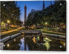 Mt Vernon Place Acrylic Print by Jim Archer