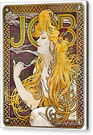 Mucha: Cigarette Papers Acrylic Print by Granger