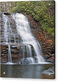 Muddy Creek Falls In Swallow Falls State Park Maryland Acrylic Print by Brendan Reals