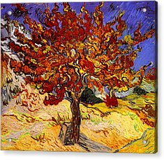 Acrylic Print featuring the painting Mulberry Tree by Van Gogh