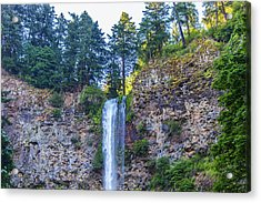 Acrylic Print featuring the photograph Multnomah Falls Cliff by Jonny D