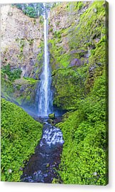 Acrylic Print featuring the photograph Multnomah Falls by Jonny D