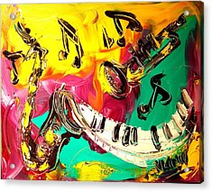 Music Jazz Acrylic Print by Mark Kazav