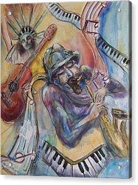 Music Man Acrylic Print by Lee Anne Stieglitz