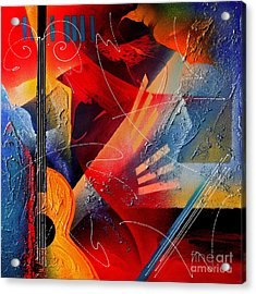 Musical Textures Series Acrylic Print by Andrea Tharin