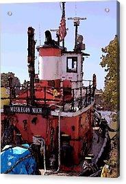 Muskegon Tug Acrylic Print by Chuck Kugler