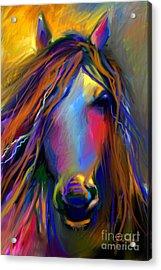 Mustang Horse Painting Acrylic Print by Svetlana Novikova