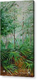 My Backyard Acrylic Print by Michele Hollister - for Nancy Asbell