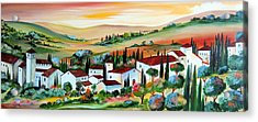 My Dream Village Acrylic Print