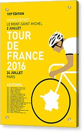 My Tour De France Minimal Poster 2016 Acrylic Print by Chungkong Art