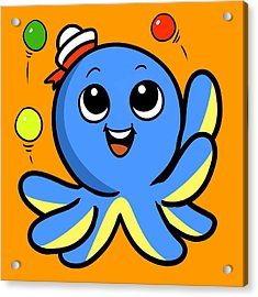 My Octopus Can Juggle Balls Acrylic Print
