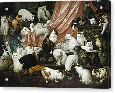 My Wife's Lovers Acrylic Print by Carl Kahler