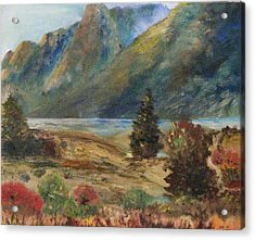 Mysterious Yosemite Valley Acrylic Print by Trilby Cole