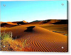Acrylic Print featuring the photograph Namibia Dunes by Riana Van Staden