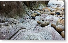 Acrylic Print featuring the digital art Nanven Rocks by Julian Perry