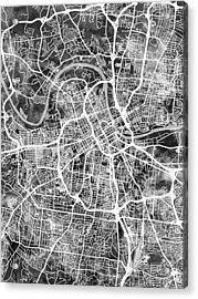 Nashville Tennessee City Map Acrylic Print