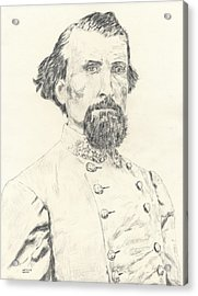 Nathan Bedford Forrest Acrylic Print by Dennis Larson