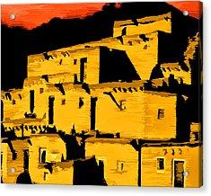 Native American Sunset Acrylic Print