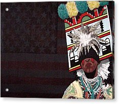 Acrylic Print featuring the painting Native Dancer by Bernard Goodman