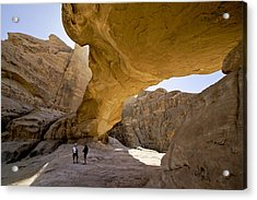 Natural Arch In Wadi Rum Acrylic Print by Michele Burgess