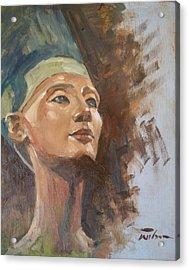 Nefertiti Acrylic Print by Ron Wilson