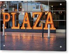 Neon Plaza Acrylic Print