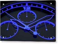 Neon Watch Face Acrylic Print