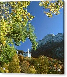 Neuschwanstein Castle Bavaria In Autumn 5 Acrylic Print by Rudi Prott
