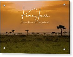 Acrylic Print featuring the photograph New Day On The Mara by Karen Lewis